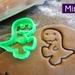 Mini 3D Printed Dinosaur Cookie Cutter
