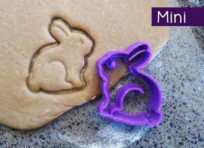 Mini 3D Printed Bunny Rabbit Cookie Cutter