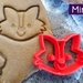 Mini 3D Printed Fox Cookie Cutter