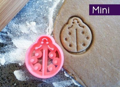 Mini 3D Printed Ladybug Cookie Cutter