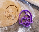 3D Printed Portrait Cookie Cutter - your face on a cookie! (custom design)