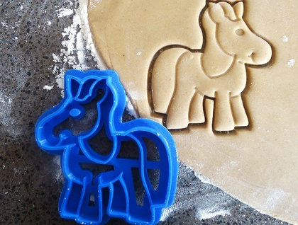 3D Printed Horse or Pony Cookie Cutter