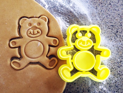 3D Printed Teddy Cookie Cutter