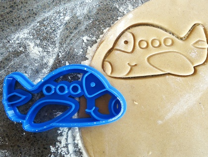 3D Printed Plane Cookie Cutter