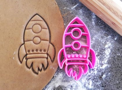 3D Printed Rocket Cookie Cutter