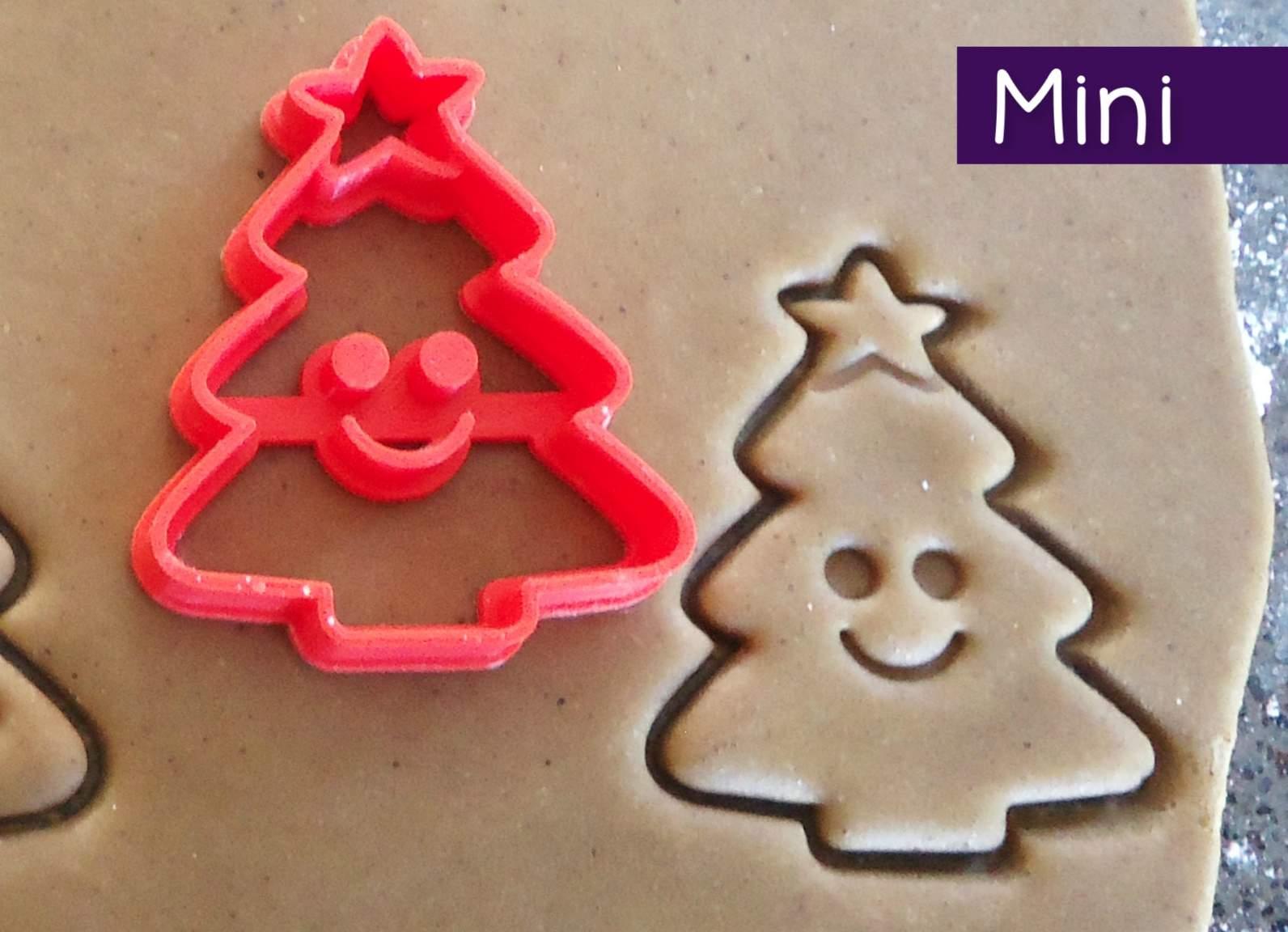 Mini 3d Printed Christmas Tree Cookie Cutter Felt