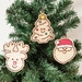 Christmas Ornament Set - Santa, Reindeer and Xmas Tree