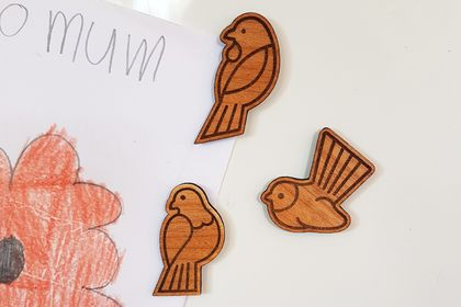 Magnet Set - Kererū, Pīwakawaka and Tui
