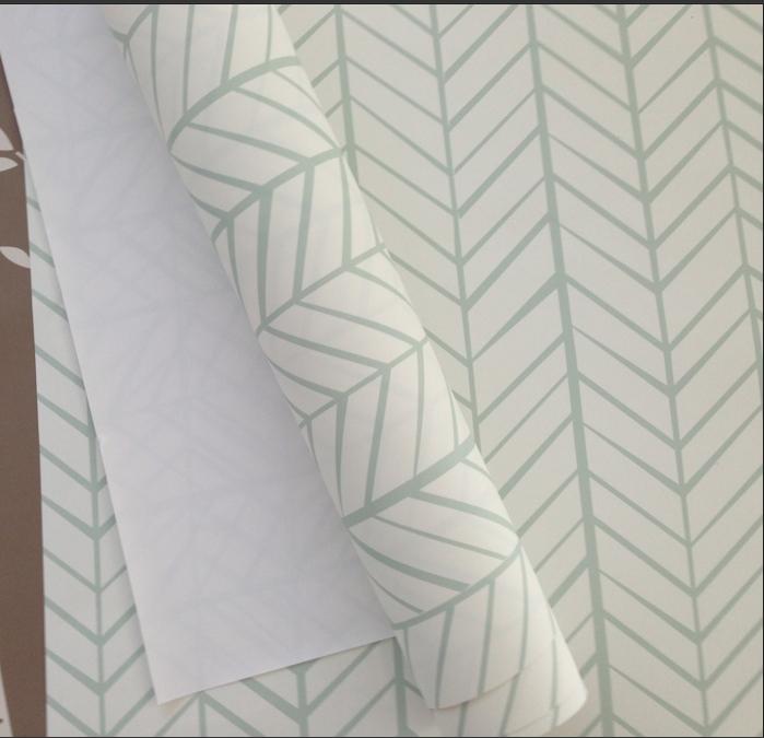 Removable Wallpaper Herringbone Mint Wallpaper Felt