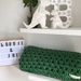Wool Blend Chunky Crochet Blanket - Green