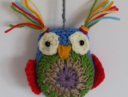 Single Hanging Crochet Owl