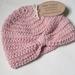 Baby Turban, newborn, merino/cotton, powder pink