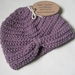Baby Turban, newborn, merino/cotton, lavender