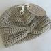 Baby Turban, 3-6mths, merino/cotton, beige