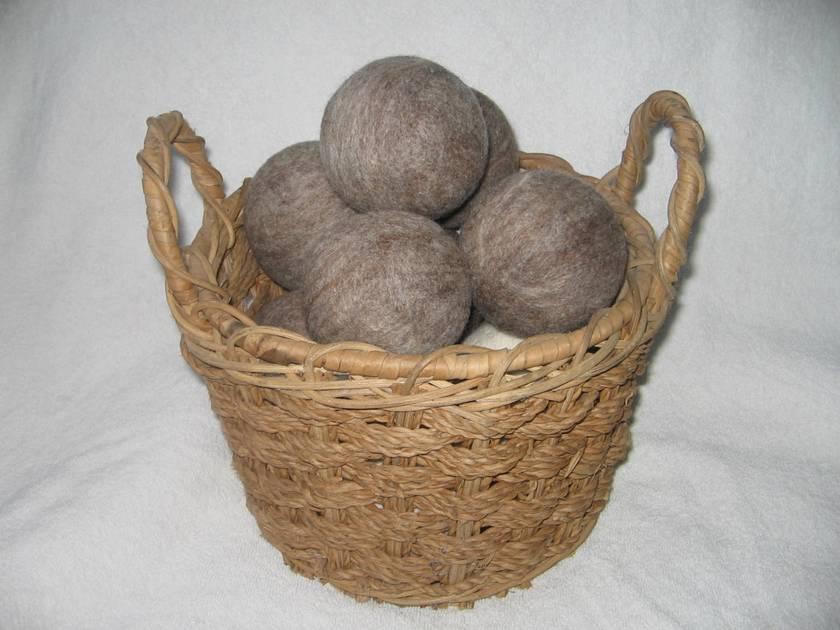 Dryer Balls NZ wool, natural