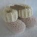 Crochet 'Ugg' Booties, merino/cotton, powder