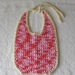 Crochet Bib 100% cotton, pink fuschia