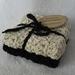 Crochet Cotton Wash Cloths, natural/black
