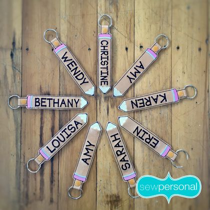 Personalised Teacher Gift Pencil Keyring