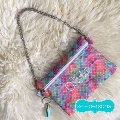 Child's Personalised Clutch Handbag Pouch