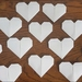Set of 15 Origami hearts- White Matte