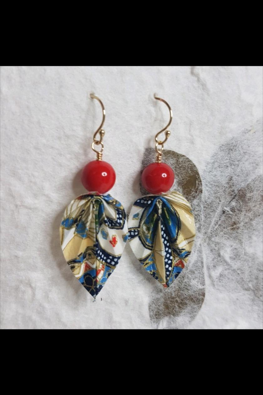 SALE Origami leaf earrings - Fay