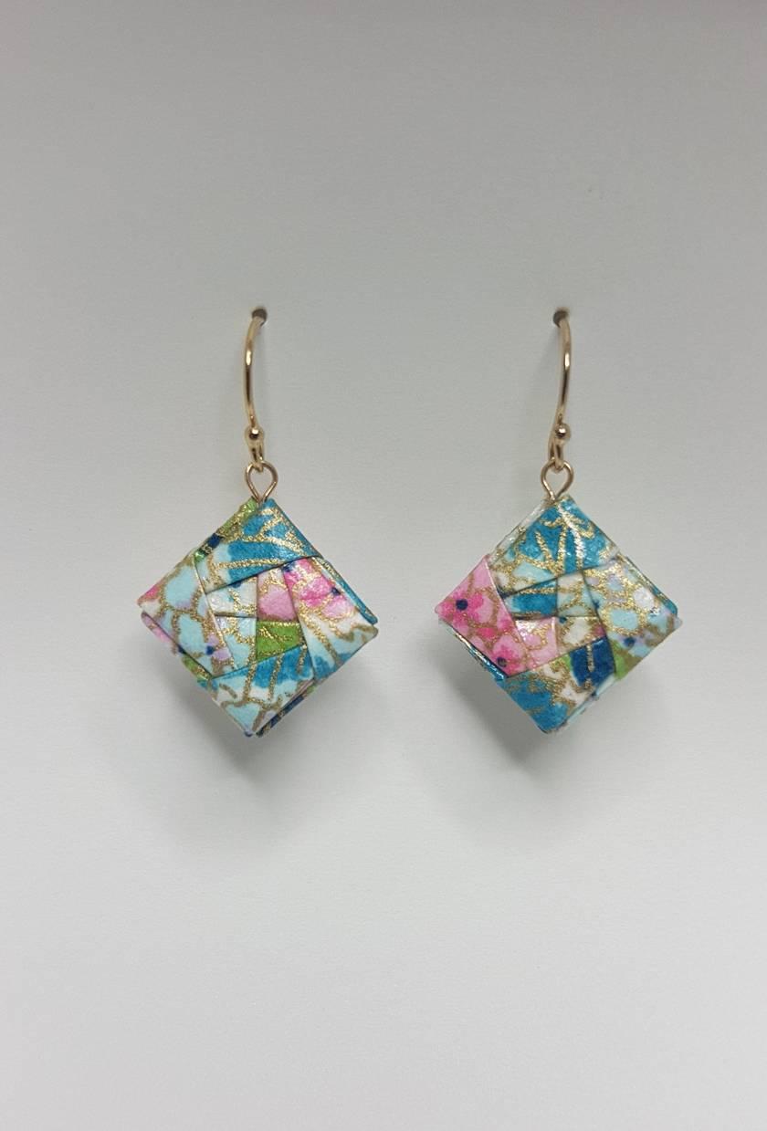 Origami Earrings - Princess Cut V