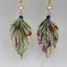 SALE Origami Leaf Earrings - Tropica