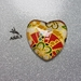 Fridge Magnet ( Heart ) x 1 - Japanese Chiyogami Paper