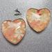 Fridge Magnet ( Heart ) x2 Japanese Chiyogami Paper