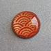 Fridge Magnet ( Round)  x 1 - Japanese Chiyogami Paper