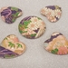 Fridge Magnet ( Heart ) x4 and 1 (Round)Japanese Chiyogami Paper