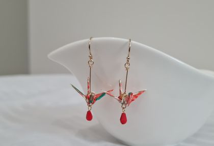Origami Crane Earrings - Fay