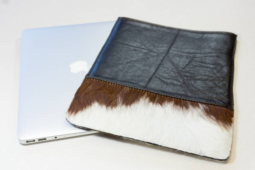 "Leather laptop 13"" sleeve"