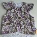 Sweet Vintage Purple Floral Flutter Reversible Vest Size THREE