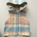 Peach and Blue Wool Pixie Vest Size 6