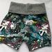 Black unicorn print shorts size 3-4 - ON SALE