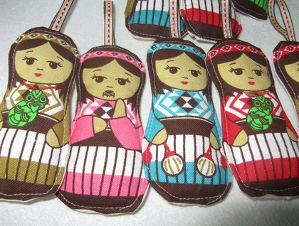 Maori Xmas doll decorations