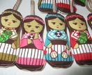 Maori Xmas doll decorations (pk 5)