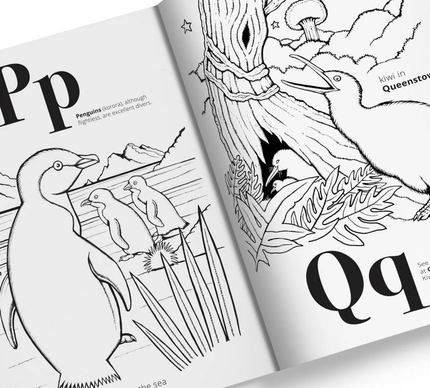 New Zealand A Z Colouring Book