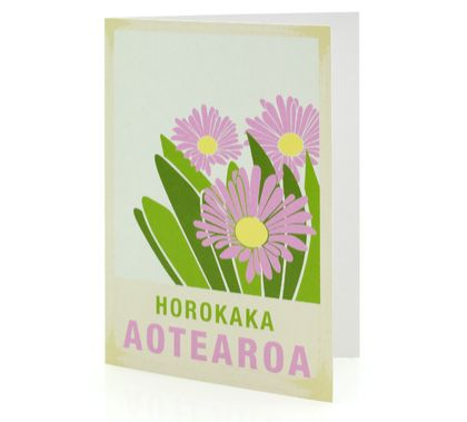 Horokaka illustration. A6 card with envelope – New Zealand native flower series.
