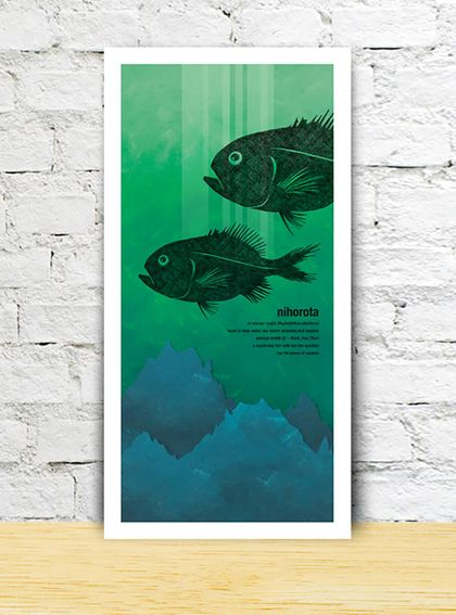 Nihorota limited edition print – New Zealand native fish series