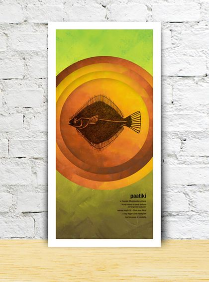 Paatiki limited edition print – New Zealand native fish series