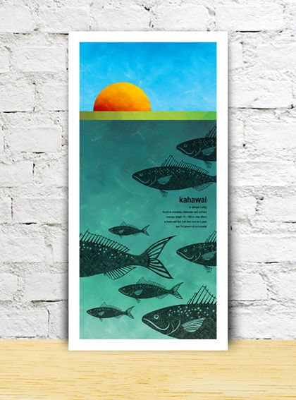 Kahawai limited edition print – New Zealand native fish series