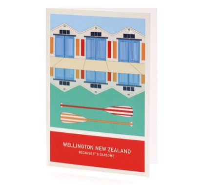 Because it's oarsome A6 greeting card – Wellington New Zealand series