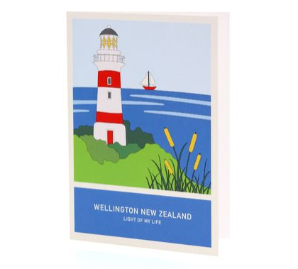 Light of my life A6 greeting card – Wellington New Zealand series