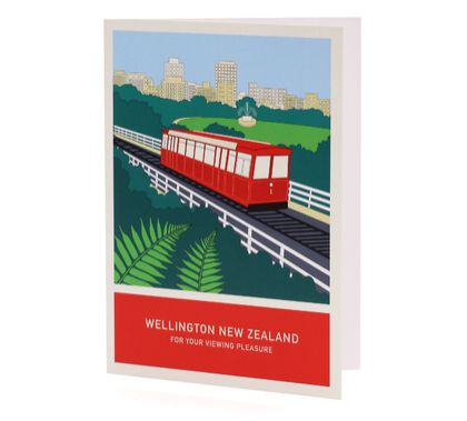 For your viewing pleasure A6 greeting card – Wellington New Zealand series