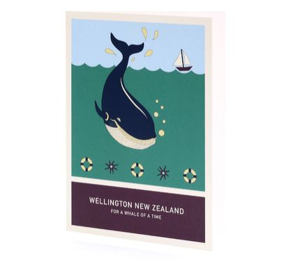 For a whale of a time A6 greeting card – Wellington New Zealand series