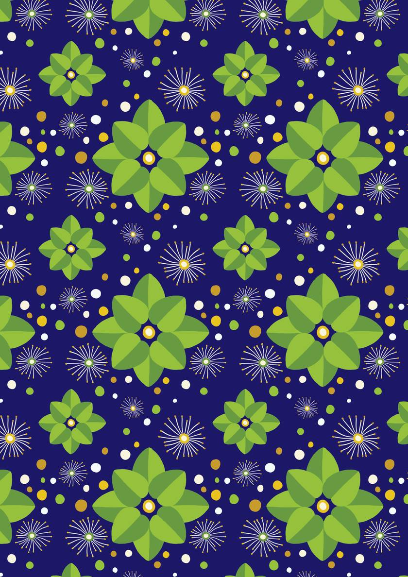 Wrapping Paper – White Rata Vine: NZ Flora and Fauna