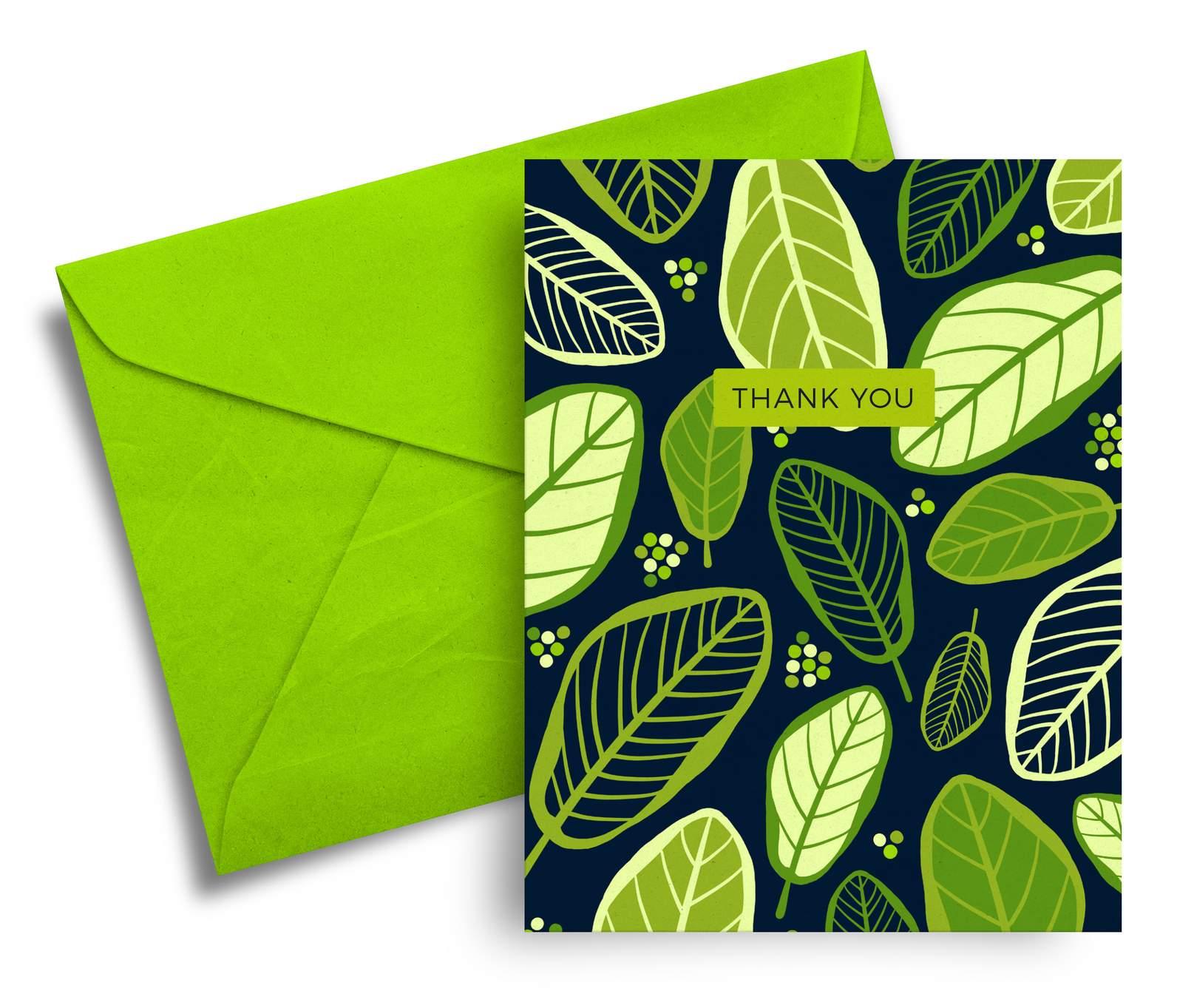Thank You A6 Greeting Card Nz Flora And Fauna Felt